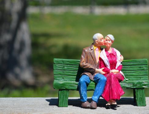 staruszkowie na ławce