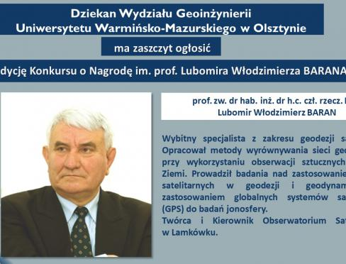 nagroda im. prof. Włodzimierza Barana
